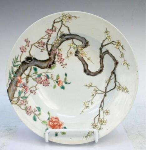 Chinese Famille Rose Porcelain Charger 19th C.