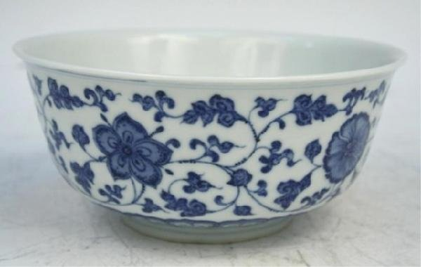 19th C. Chinese Blue and White Porcelain Bowl