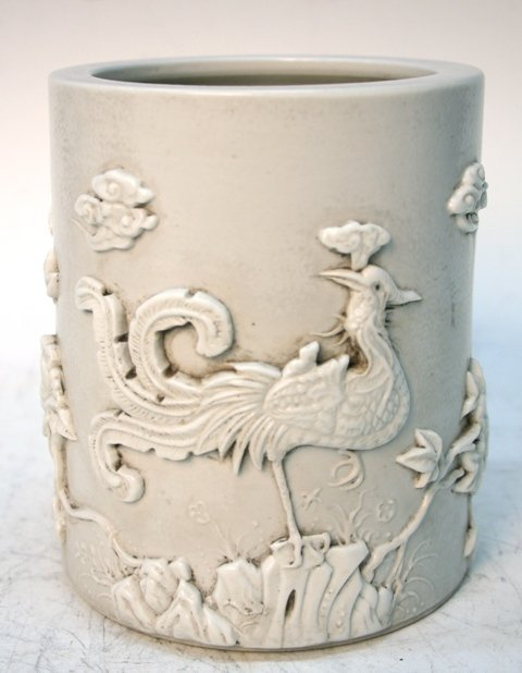 Chinese Porcelain Brushpot 19th-20th C.