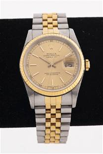 Rolex Oyster Perpetual 18K Gold Wrist Watch