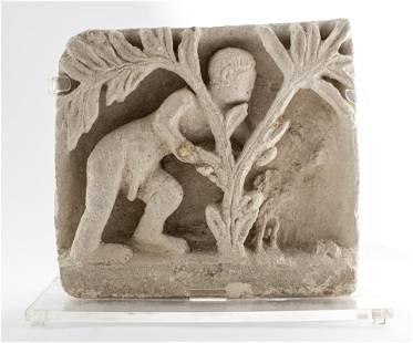 Ancient Byzantine Egyptian Coptic Limestone Relief