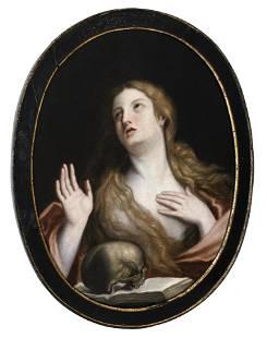 Follower of Guido Reni, The Penitent Magdalen, Oil