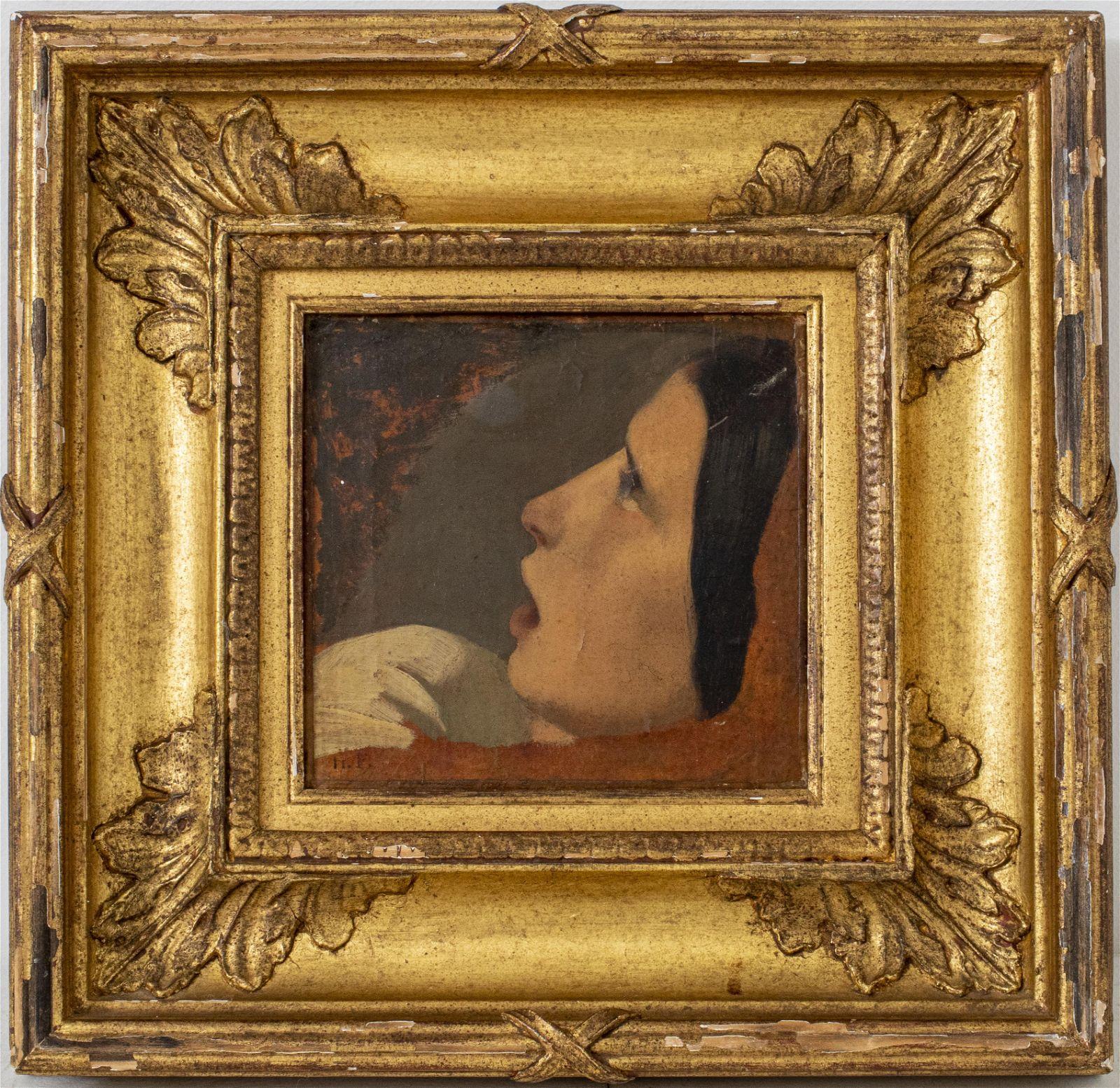 Hippolyte-Jean Flandrin 19th C. Oil, Portrait