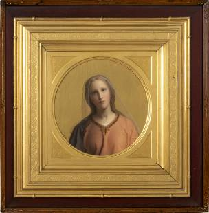 Carl Muller 19th C. Oil, Portrait of Woman