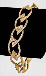Angela Cummings 18K Gold Diamond Link Bracelet