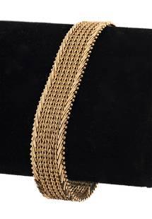 14K Yellow Gold Woven Wheat Bracelet