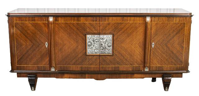 Jules Leleu Attributed French Art Deco Credenza