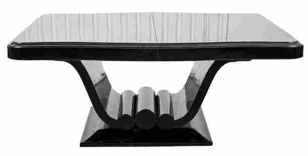 Ruhlmann Attrib Art Deco Lacquer Dining Table