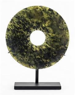 Chinese Neolithic Period Jade Bi Disc
