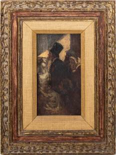 Honoré Daumier Attributed Oil on Panel