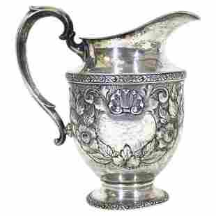 Fisher Sterling Silver 'Rose Bouquet' Pitcher