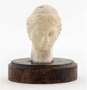 Grand Tour Carved Marble Head