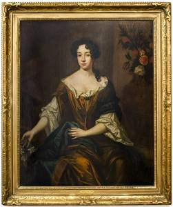 Sir Peter Lely Attributed Portrait of a Noblewoman