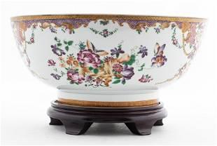 Chinese Qianlong Period Porcelain Punch Bowl