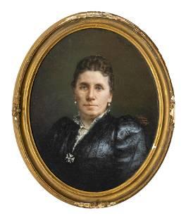 'Wilhelm' American Victorian Pastel Chalk Portrait