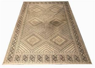 Moroccan Style Geometric Carpet, 12 x 9