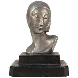 Art Deco Sculpture of a Woman in Aluminum