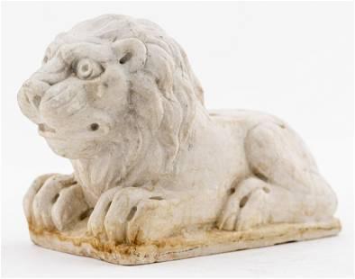 Renaissance Style Carved Marble Lion Sculpture