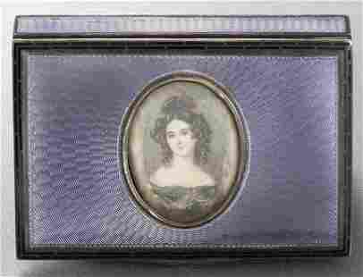 Antique Victorian Silver Enamel Compact
