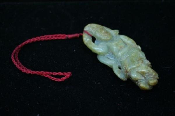 Chinese Carved Jade Figural Pendant