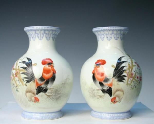 Pair of Chinese Porcelain Republic Period Vases