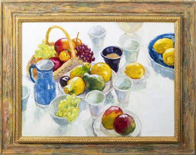 Dale Payson Large Oil on Canvas, Still Life