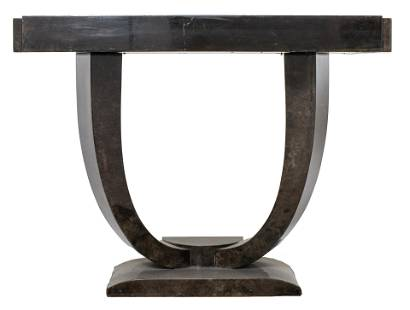 Karl Springer Goatskin Lacquer Console Table