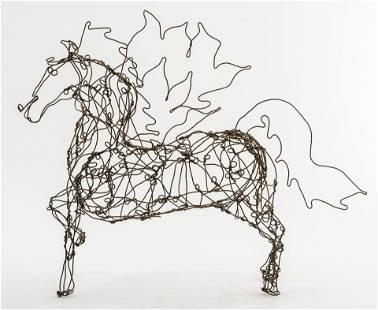 Mid-Century Modern 'Pegasus' Wire Horse Sculpture
