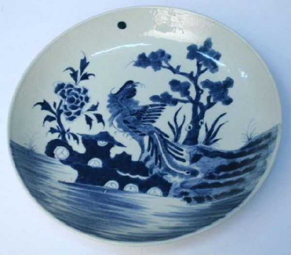 Chinese Blue-&-White Porcelain Phoenix Plate