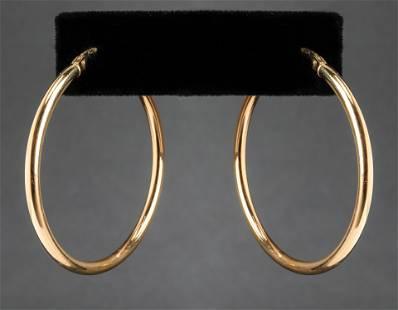 Milor Italian 18K Yellow Gold Hoop Earrings