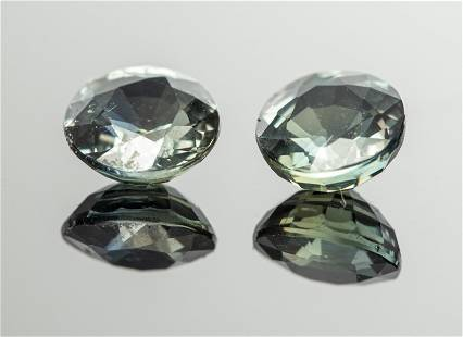 1.30 Cttw. Pair of Loose Color-Change Sapphires 2