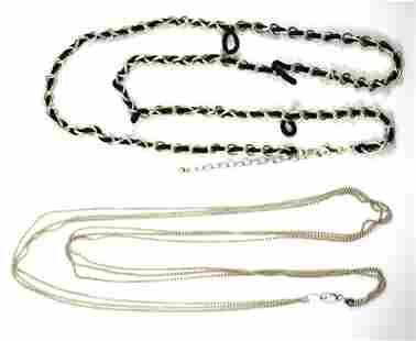 Joseph Esposito Designer And IBB Silver Necklaces