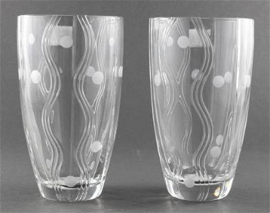 Royal Doulton Precious Crystal Vases, 2