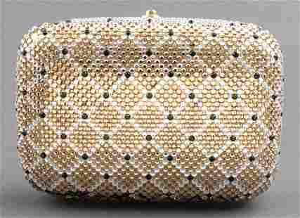 Crystal Lattice Pattern Minaudiere Clutch / Purse
