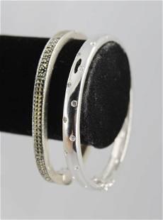 Sterling Silver Bangle Bracelets, Group of 2