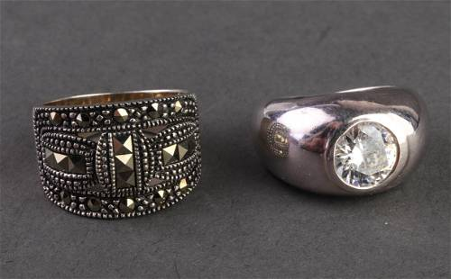 Italian Milor & Other Sterling Silver Rings, 2