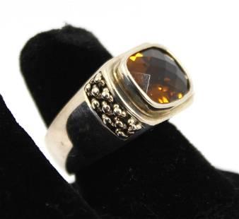 Michael Dawkins Designer Silver And Citrine Ring