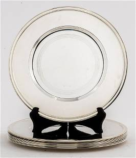 Christofle Silver-Plate Chargers, Set of 12