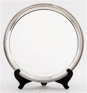 Christofle Silver-Plate Round Platter
