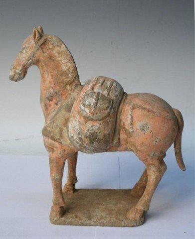 Chinese Tang Dynasty Pottery Horse Figure