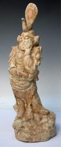 Chinese Tang Dynasty Ceramic Lokapala Figure