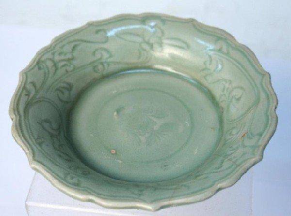 Ming Dynasty Chinese Celadon Ceramic Dish