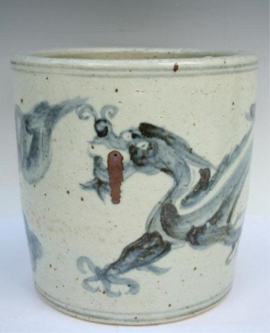 Chinese Ming Dynasty Blue-and-White Brushpot
