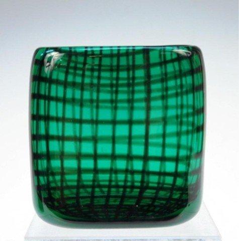Hadeland Norwegian Glass Vase, H. Bongard 1955