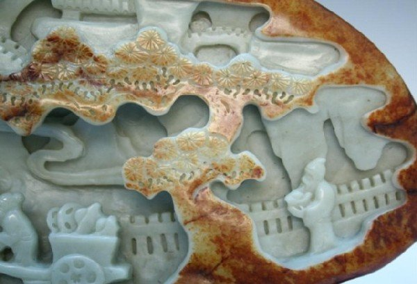 Large Chinese Carved Jade Mountain 19th Century - 2