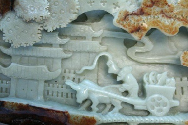 Large Chinese Carved Jade Mountain 19th Century - 3