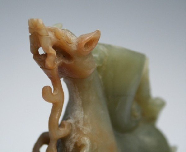 Chinese Carved Jade Dragon - 8