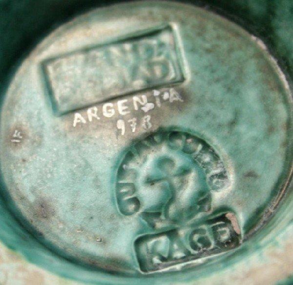 Gustavsberg Argenta Kage Vase w/ Silver Overlay - 10