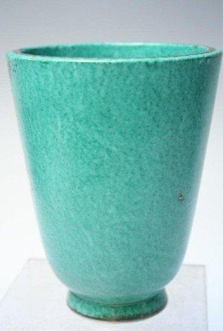 Gustavsberg Argenta Kage Vase w/ Silver Overlay - 3