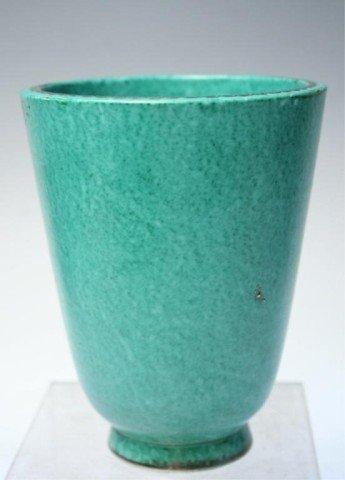 Gustavsberg Argenta Kage Vase w/ Silver Overlay - 4